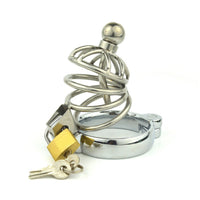 YiFeng Stainless Steel Male Padlock Chastity Cage Device - CBT Bondage Fetish Kinky Submission 10