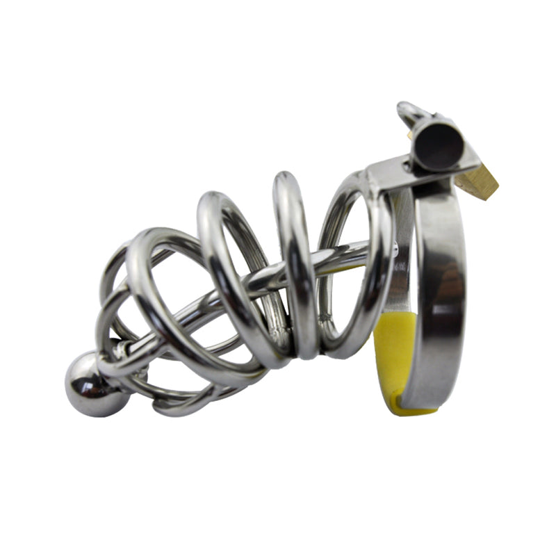 YiFeng Stainless Male Chastity Device Belt Restraint Bondage Fetish Urethral Tube 38