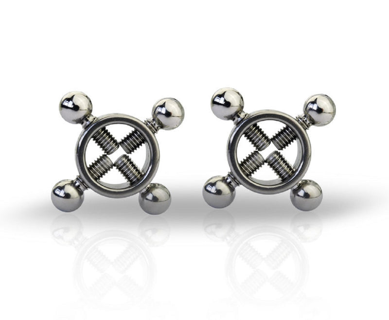 YiFeng Pair of Stainless Rings of Nipple Press Bondage Toy