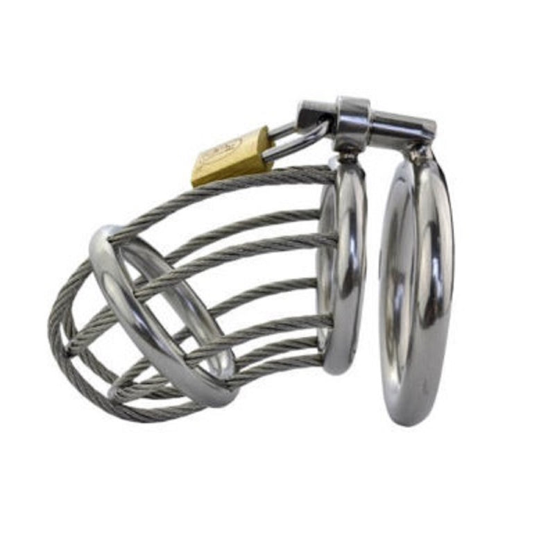 YiFeng Stainless Male Padlock Chastity Belt Cage Device Bondage Fetish 74