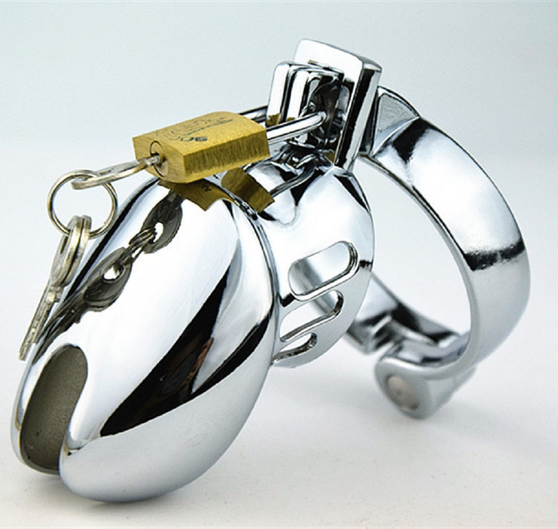 YiFeng Stainless Male Padlock Chastity Belt Cage Device Bondage Fetish 75