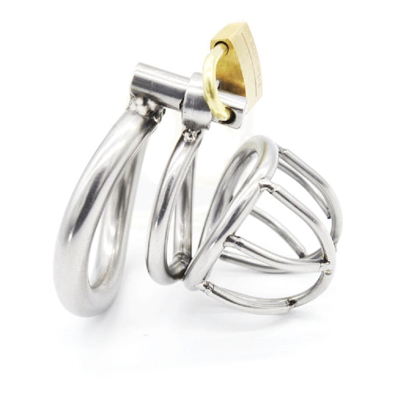 YiFeng Stainless Male Chastity Cage Device Belt Restraint Lock Men Bondage Fetish 77