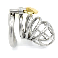 YiFeng Stainless Male Chastity Cage Device Belt Restraint Lock Men Bondage Fetish 79
