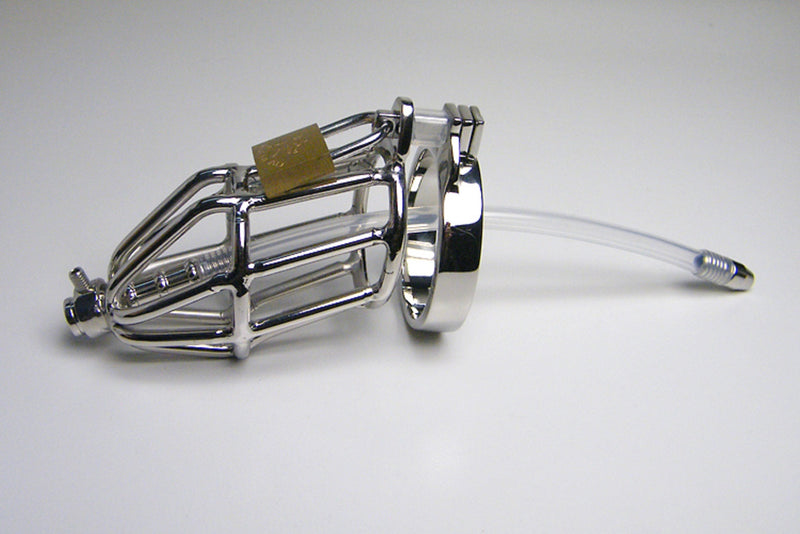 YiFeng Stainless Male Chastity Cage Device Belt Urethral Tube Men Bondage Fetish 81