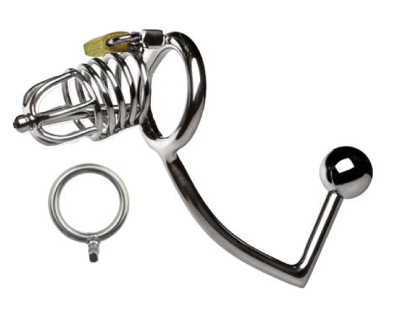 YiFeng Stainless Male Chastity Cage Device Belt Restraint Lock Men Bondage Fetish 86