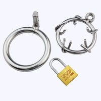 YiFeng Stainless Male Chastity Device Crown Ring of Thorn Men Bondage Fetish 87