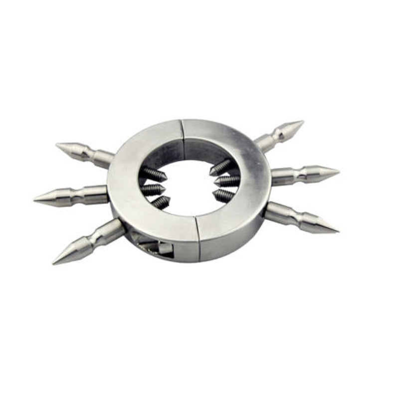 YiFeng Ball Stretcher Stainless Male Spikes Sinner Men Bondage Fetish 94
