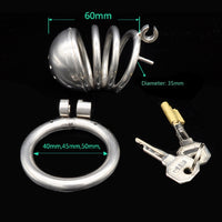 YiFeng Stainless Steel Male Chastity Cage Device Belt Restraint Men Bondage Fetish 111