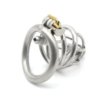 YiFeng Stainless Steel Male Chastity Cage Device Belt Urethral Tube Bondage Fetish 125