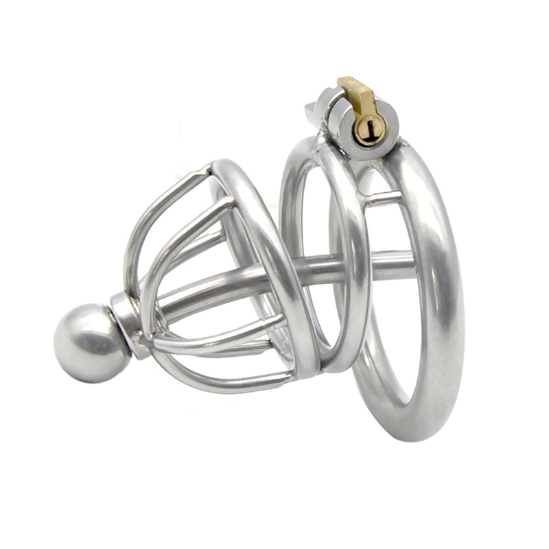 YiFeng Stainless Steel Male Chastity Cage Device Belt Urethral Tube Bondage Fetish 128
