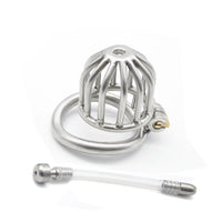 YiFeng Stainless Steel Male Chastity Cage Device Belt Urethral Tube Bondage Fetish 134