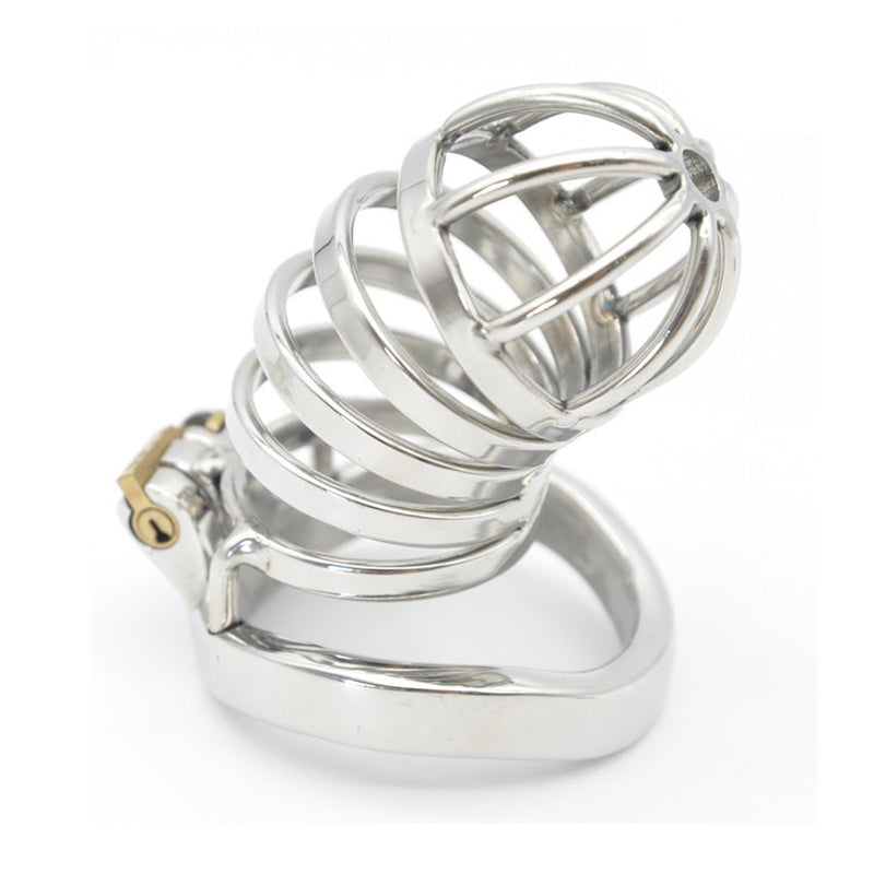 YiFeng Stainless Steel Male Chastity Cage Device Belt Restraint Men Bondage Fetish 150
