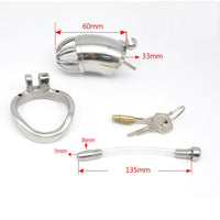 YiFeng Stainless Steel Male Chastity Cage Device Belt Urethral Tube Bondage Fetish 155