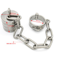 YiFeng Stainless Steel 16oz Male Testicle Ball Scrotum Stretcher Chain Chastity Device 160