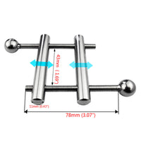 YiFeng Stainless Steel Adjustable Slider Rod Testicle Scrotum Ball Stretcher Clamp 163