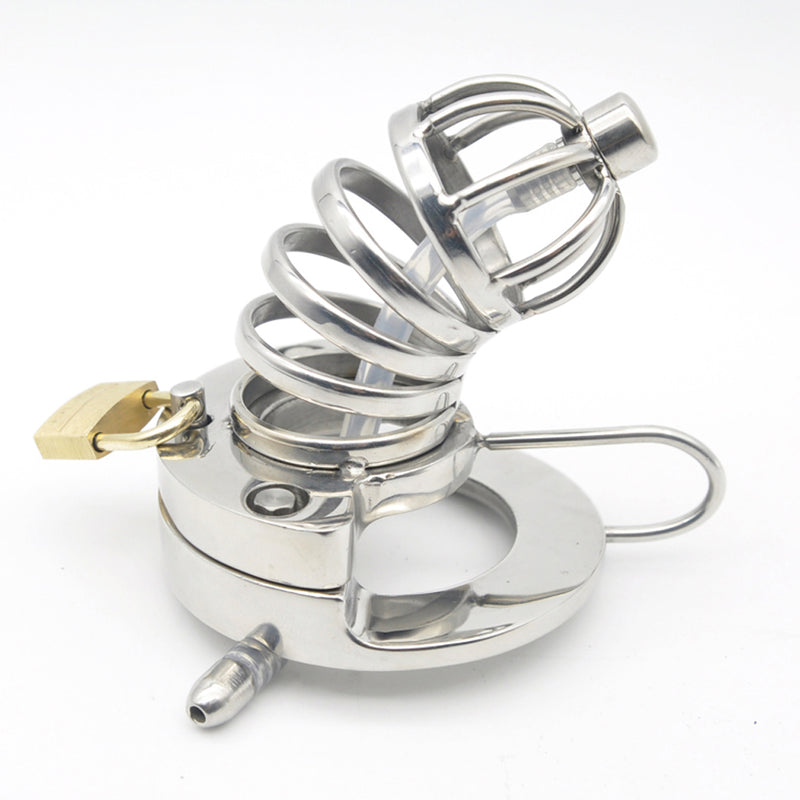 YiFeng Stainless Steel Male Chastity Cage Device Belt w/ Catheter 167