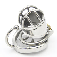 YiFeng Stainless Steel Male Chastity Cage Device Belt w/ Barbed Anti-off Ring 172