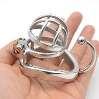 YiFeng Stainless Steel Male Chastity Cage Device Belt 174