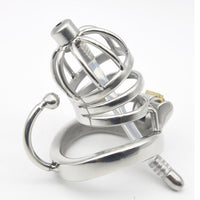 YiFeng Stainless Steel Male Chastity Cage Device Belt w/ Catheter 176