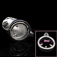YiFeng Male Chastity Cage Device w/ Barbed Anti-off Ring 180