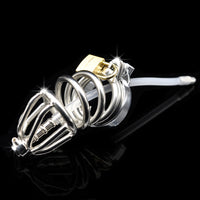 YiFeng Male Chastity Cage Device w/ Barbed Anti-off Ring 183