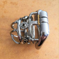 YiFeng Stainless Steel Male Chastity Cage Device Belt 206