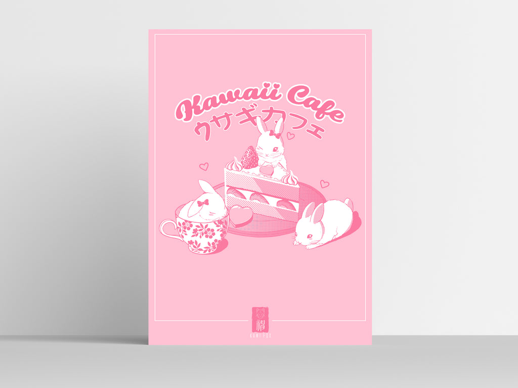 Kawaii Cafe Print
