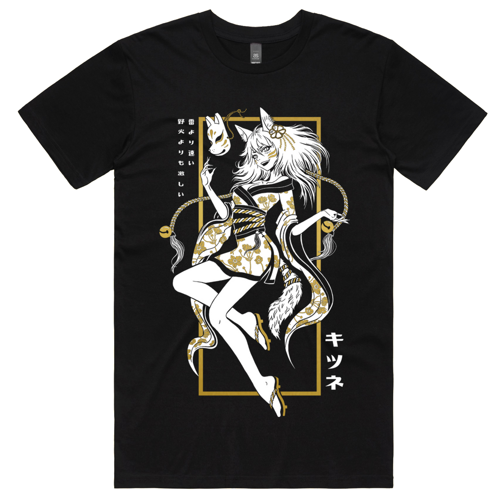 KITSUNE TEE (METALLIC GOLD)