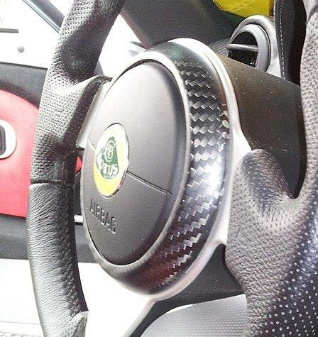 Carbon Fiber Airbag Trim Ring for Elise & Exige Momo Steering Wheels