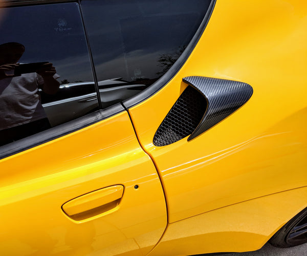 Carbon Fiber Side Intake Scoops for Evora - Small/Short Version