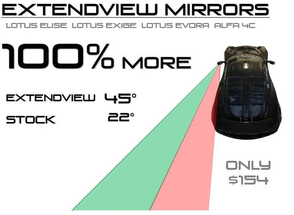 ExtendView Mirrors for Evora 400, 410, 430, GT