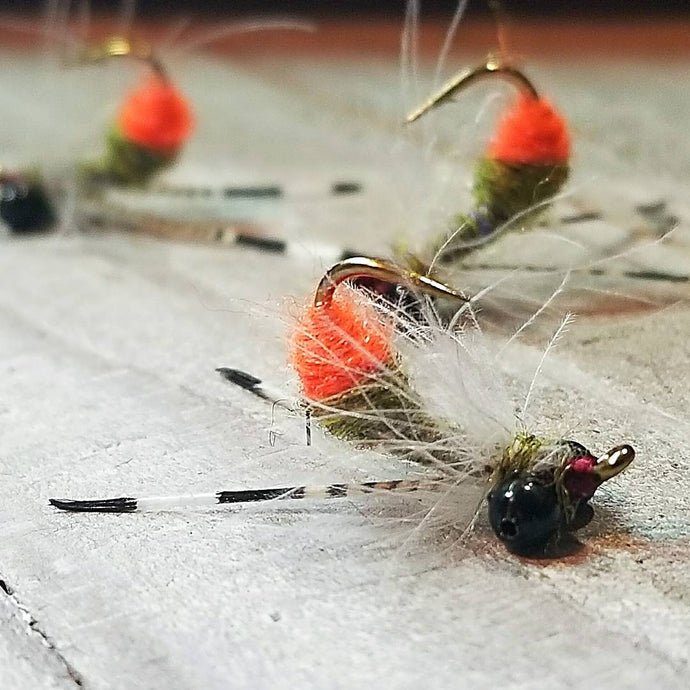Custom Carp Flies, Nervous Water Flies, Hipster Dufus, Wakame Salad, Paladin Craw, Hi-Strung Carp Crab