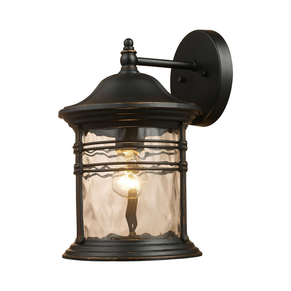 New Product  Madison 1 Light Outdoor Wall Sconce In Matte Black 08161-MBG Sold by VaasuHomes - vaasuandhomes