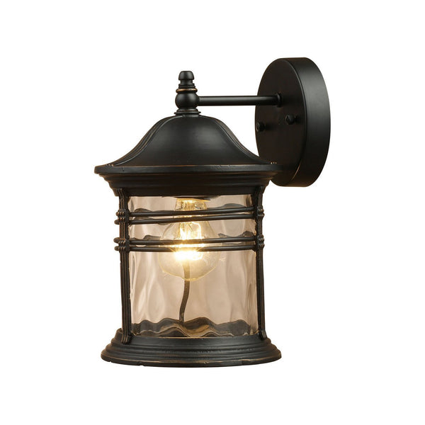 New Product  Madison 1 Light Outdoor Wall Sconce In Matte Black 08162-MBG Sold by VaasuHomes - vaasuandhomes