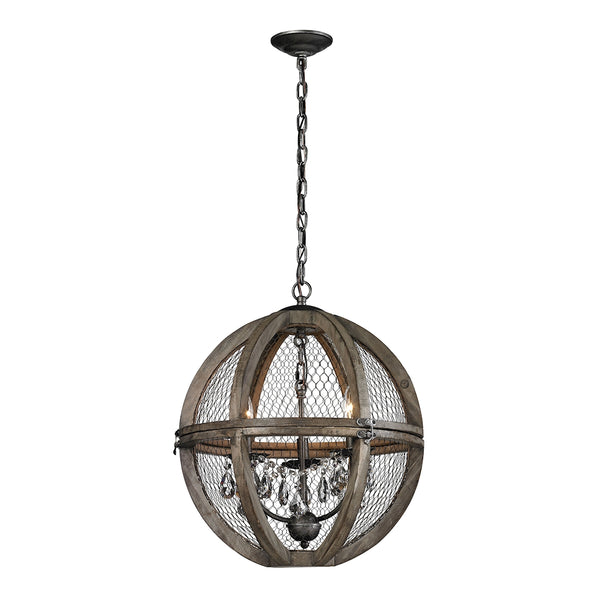 New Product  The Renaissance Invention Wood And Wire Chandelier - Small Sold by VaasuHomes - vaasuandhomes