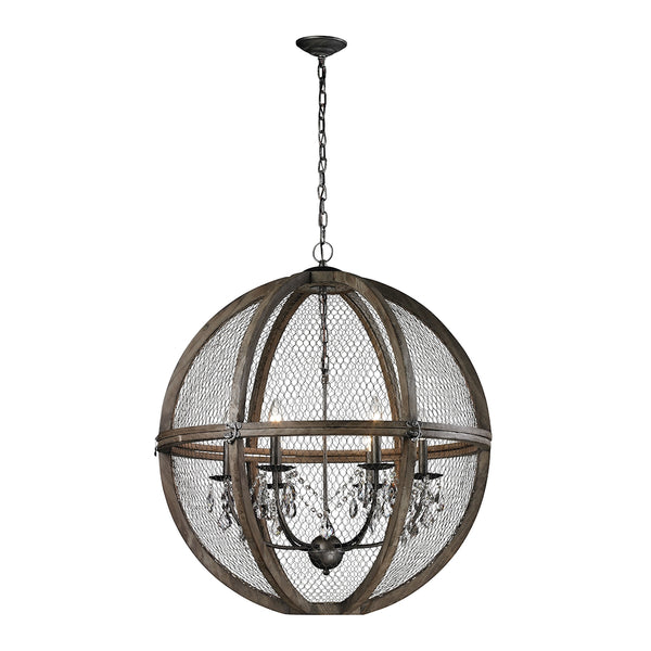 New Product  The Renaissance Invention Wood And Wire Chandelier - Large Sold by VaasuHomes - vaasuandhomes
