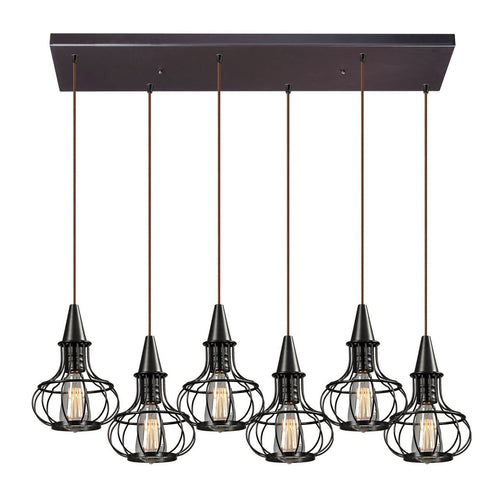 Yardley 6 Light Pendant In Oil Rubbed Bronze 14191/6RC