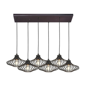 Yardley 6 Light Pendant In Oil Rubbed Bronze 14240/6RC