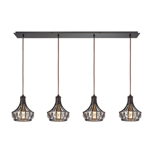 Yardley 4 Light Pendant In Oil Rubbed Bronze 14247/4LP