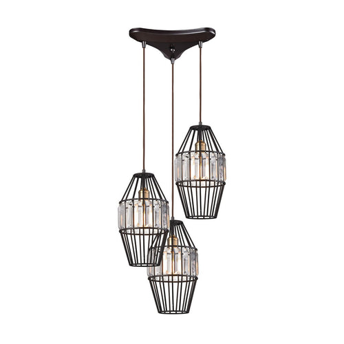 Yardley 3 Light Pendant In Oil Rubbed Bronze 14248/3