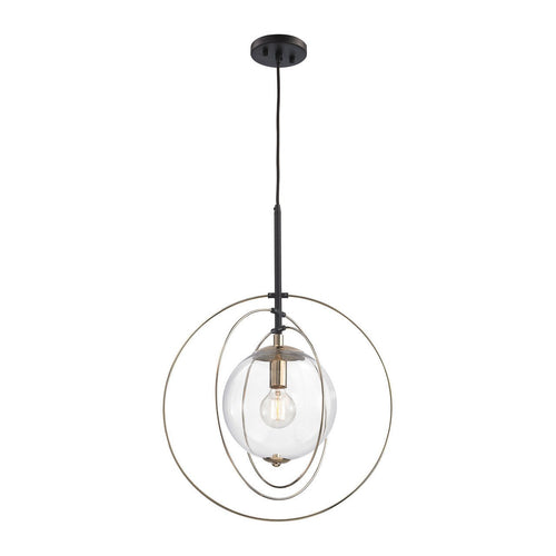Zonas 1 Light Chandelier In Polished Gold And Oil Rubbed Bronze 14385/1