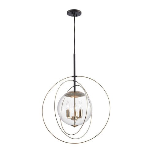 Zonas 3 Light Chandelier In Polished Gold And Oil Rubbed Bronze 14386/3