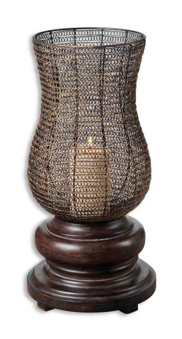 New Product  Uttermost Rickma Distressed Candleholder Sold by VaasuHomes