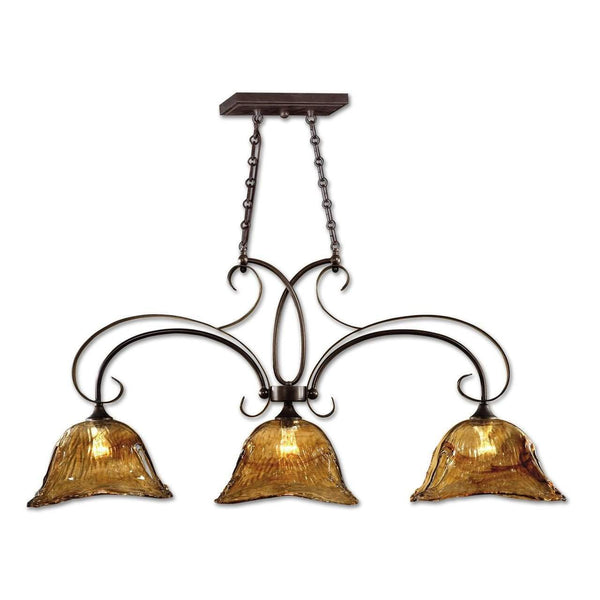 New Product  Uttermost Vetraio 3 Lt Bronze Kitchen Island Light Sold by VaasuHomes