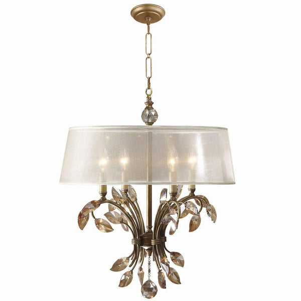 New Product  Uttermost Alenya 4 Light Gold Metal Chandelier Sold by VaasuHomes