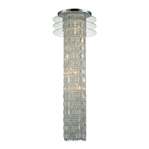 Zoey 6 Light Chandelier In Polished Chrome And Clear Crystal 31581/6
