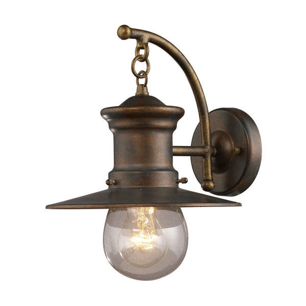 New Product ELK Lighting The Maritime 1 Light Outdoor Wall Sconce In Hazlenut Bronze 42006/1 Sold By VaasuHomes - vaasuandhomes