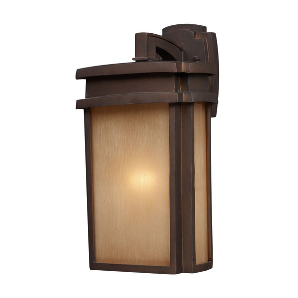 New Product ELK Lighting The Sedona 1 Light Outdoor Wall Sconce In Clay Bronze 42141/1 Sold By VaasuHomes - vaasuandhomes