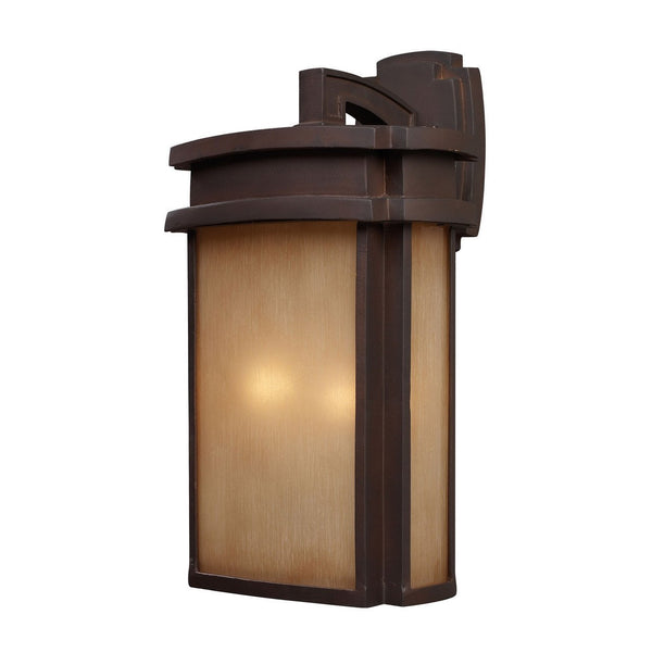 New Product ELK Lighting The Sedona 2 Light Outdoor Wall Sconce In Clay Bronze 42142/2 Sold By VaasuHomes - vaasuandhomes