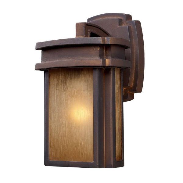 New Product ELK Lighting The Sedona 1 Light Outdoor Wall Sconce In Clay Bronze 42146/1 Sold By VaasuHomes - vaasuandhomes